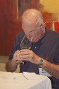 Lum Eisenman sampling wine