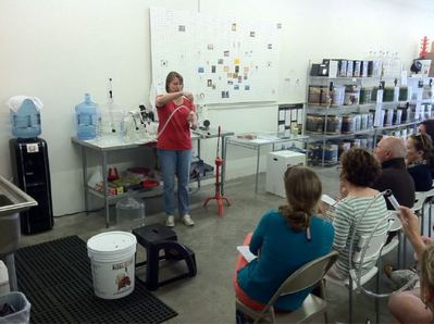 April 2011 Winemaking demo
