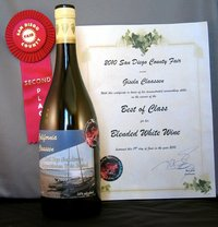 Best of Class White Wine SD county 2010