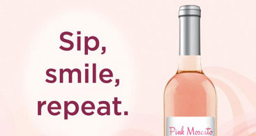Pink Moscato Sip Smile Repeat